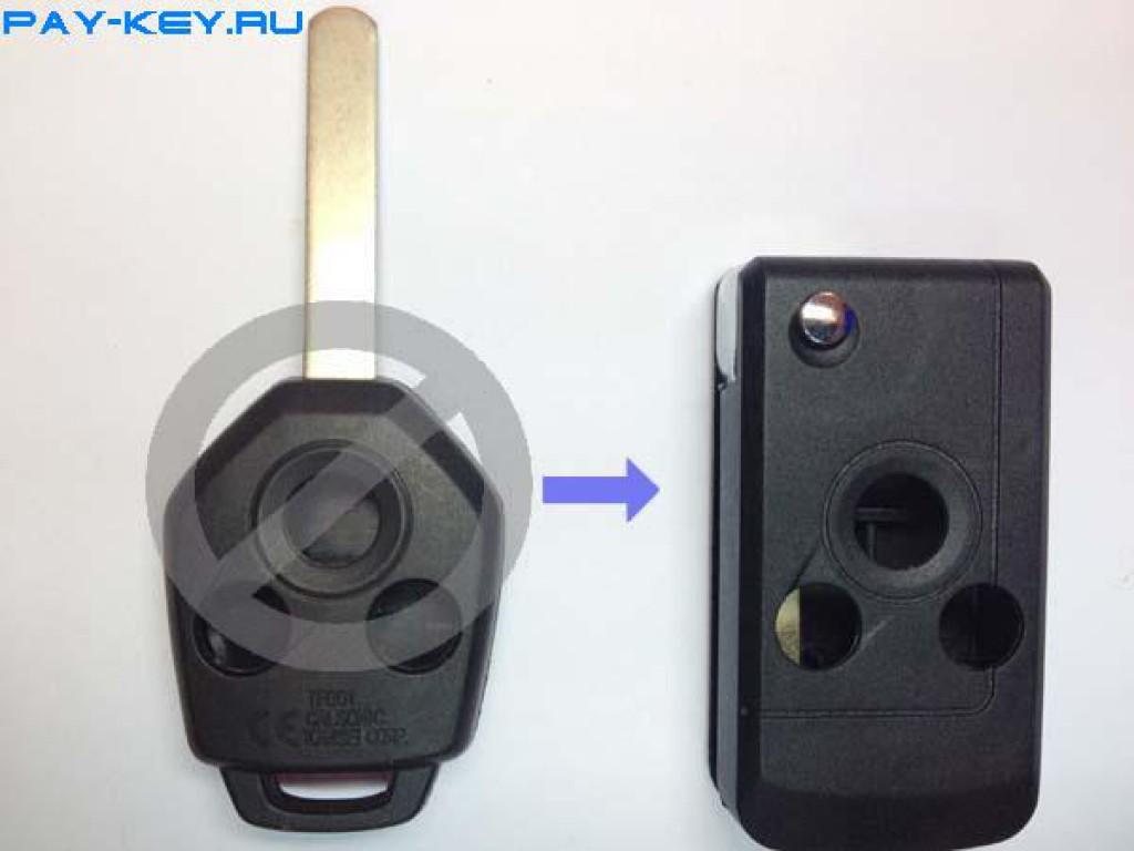 Корпус выкидного ключа для SUBARU, с местом для установки трансмиттера