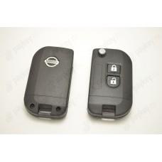 Выкидной ключ 2 кнопки с лезвием Nissan